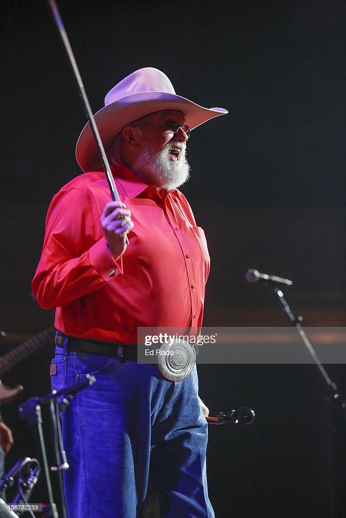 Charlie Daniels performs at Ryman Auditorium on November 19, 2012 in Nashville, Tennessee.