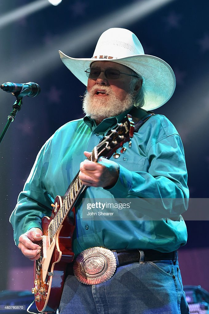 Charlie Daniels performs at the Charlie Daniels 2015 Volunteer Jam at Bridgestone Arena on August 12 2015 in Nashville Tennessee