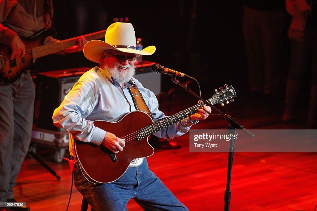 Charlie Daniels performs during Charlie Daniels Friends Christmas 4 Kids 2014 at the Ryman Auditorium on November 24 2014 in Nashville Tennessee