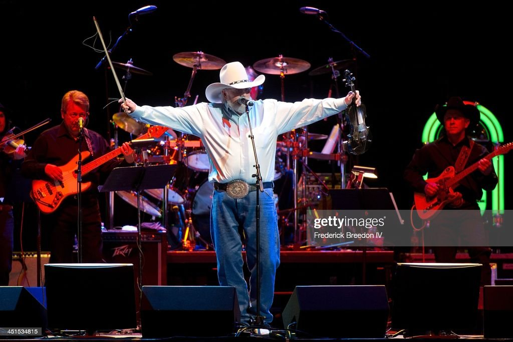 Charlie Daniels performs during Playin' Possum! The Final No Show Tribute To George Jones at Bridgestone Arena on November 22, 2013 in Nashville, Tennessee.