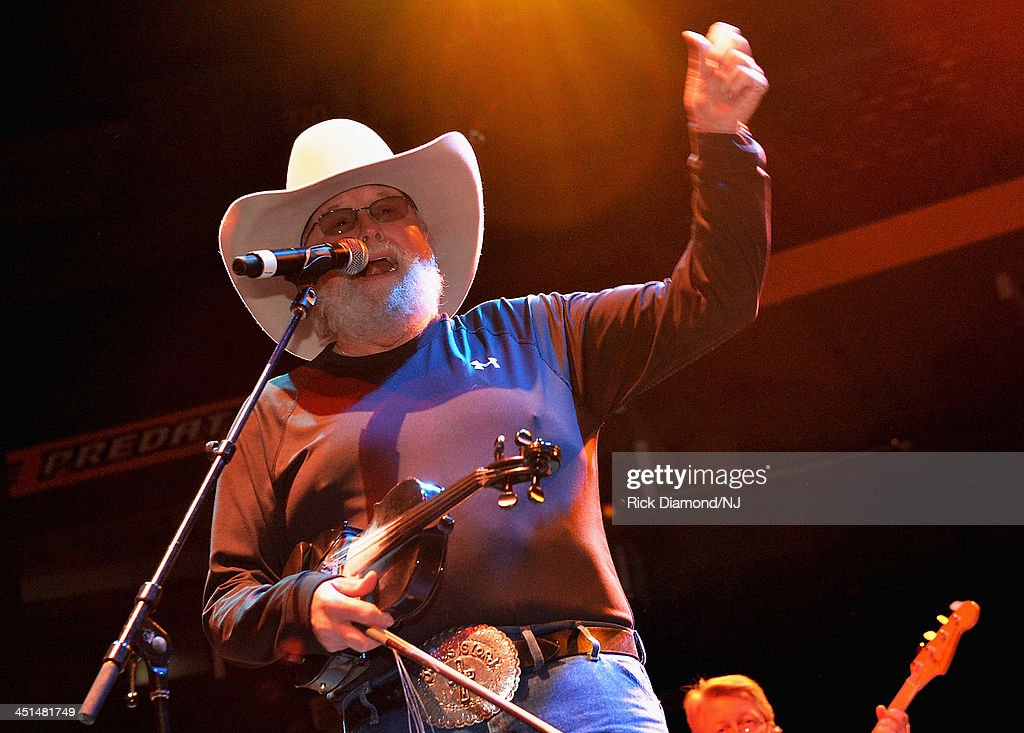 Charlie Daniels performs during rehearsals for Playin' Possum! The Final No Show Tribute To George Jones at Bridgestone Arena on November 22, 2013 in Nashville, Tennessee.