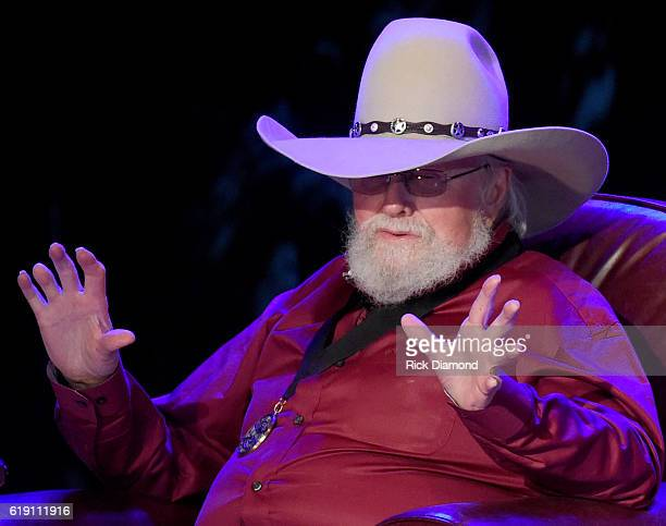Charlie Daniels performs during The Country Music Hall of Fame and Museum presents an Interview and Performance with Charlie Daniels at Country Music...