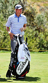 Charlie Danielson waits his turn on the eighth hole during the second round of the Utah Championship Presented by Zions Bank at Thanksgiving Point on...