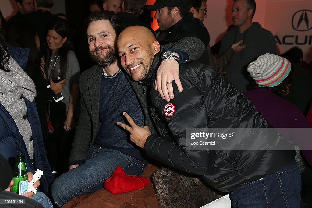 Charlie Day and Keegan Michael Key attend the 'The Hollars' Premiere Party at The Acura Studio at Sundance Film Festival 2016 on January 24 2016 in...