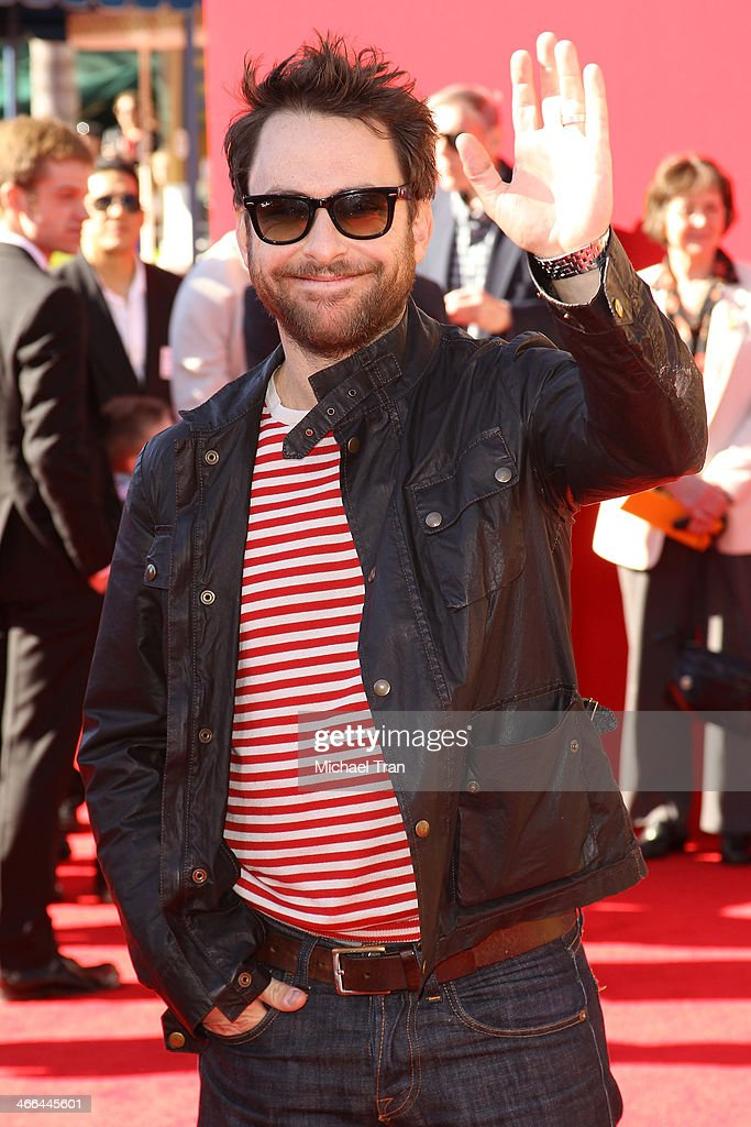 <a gi-track='captionPersonalityLinkClicked' href=/galleries/search?phrase=Charlie+Day&family=editorial&specificpeople=537731 ng-click='$event.stopPropagation()'>Charlie Day</a> arrives at the Los Angeles premiere of 'The Lego Movie' held at Regency Village Theatre on February 1, 2014 in Westwood, California.