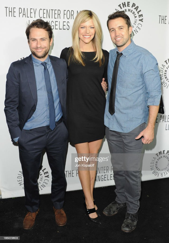 <a gi-track='captionPersonalityLinkClicked' href=/galleries/search?phrase=Charlie+Day&family=editorial&specificpeople=537731 ng-click='$event.stopPropagation()'>Charlie Day</a>, <a gi-track='captionPersonalityLinkClicked' href=/galleries/search?phrase=Kaitlin+Olson&family=editorial&specificpeople=537734 ng-click='$event.stopPropagation()'>Kaitlin Olson</a> and <a gi-track='captionPersonalityLinkClicked' href=/galleries/search?phrase=Rob+McElhenney&family=editorial&specificpeople=537737 ng-click='$event.stopPropagation()'>Rob McElhenney</a> arrive at The Paley Center for Media Hosts 2013 Benefit Gala Honoring FX Networks on October 16, 2013 in Los Angeles, California.