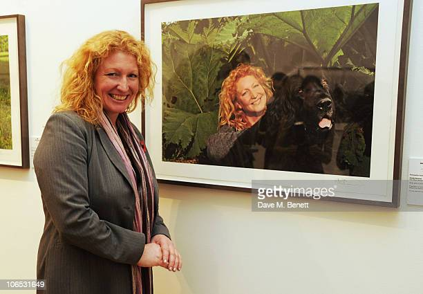 Charlie Dimmock attends Amazing Partnerships an auction of renowned photographer Adrian Houston's candid series of portraits of famous figures and...