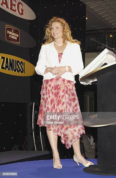 Charlie Dimmock attends the 2004 Tric Awards at The Grovesnor House Hotel on March 10 2004 in London