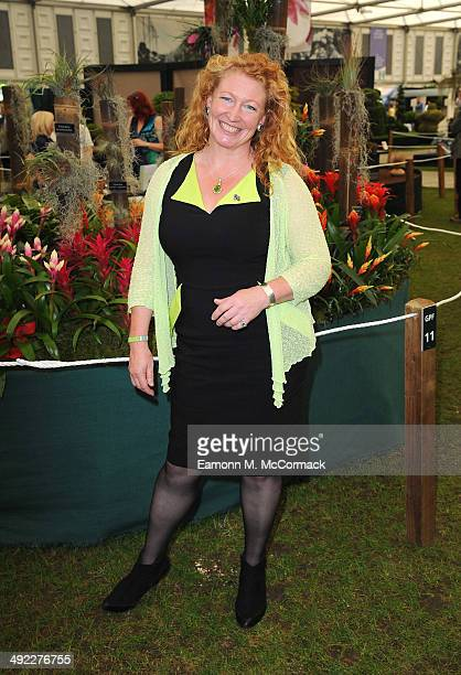Charlie Dimmock attends the VIP preview day of The Chelsea Flower Show at The Royal Hospital Chelsea on May 19 2014 in London England
