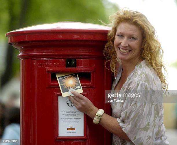 Charlie Dimmock during RHS Chelsea Flower Show 2004 at Royal Hospital Chelsea in London Great Britain