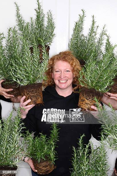 Charlie Dimmock poses as she launches BTCV's carbon army mobilising 300000 volunteers to fight climate change on November 25 2009 in London England