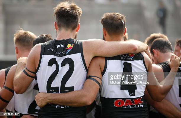 Charlie Dixon and Paddy Ryder of the Power look on during the 2017 AFL round 08 match between the Gold Coast Suns and Port Adelaide Power at Jiangwan...