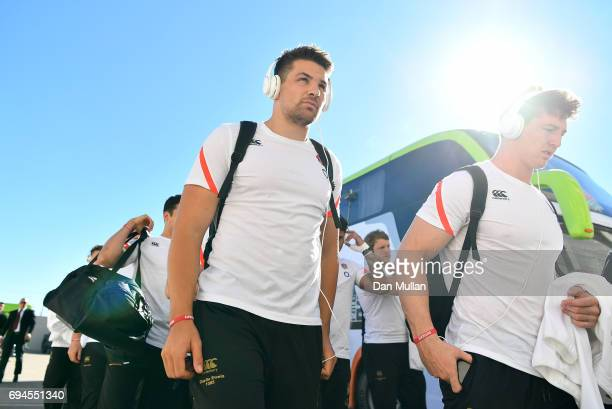 Charlie Ewels of England makes his way into the stadium prior to the ICBC Cup match between Argentina and England at the Estadio San Juan del...