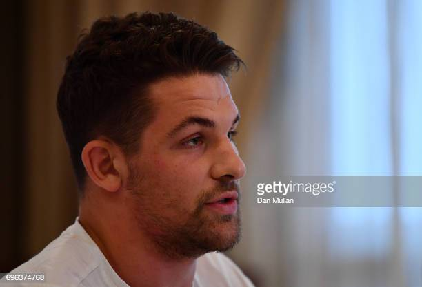 Charlie Ewels of England speaks to the media during a press conference at the Intertower Hotel on June 15 2017 in Santa Fe Santa Fe