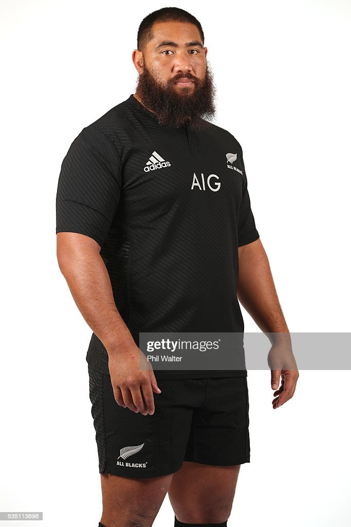 <a gi-track='captionPersonalityLinkClicked' href=/galleries/search?phrase=Charlie+Faumuina&family=editorial&specificpeople=4294873 ng-click='$event.stopPropagation()'>Charlie Faumuina</a> of the All Blacks poses for a portrait during a New Zealand All Black portrait session on May 29, 2016 in Auckland, New Zealand.