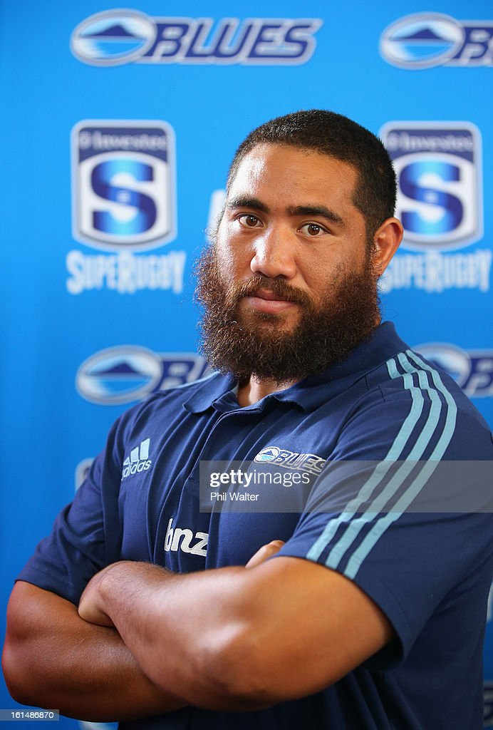 Charlie Faumuina of the Blues poses for a portrait during the 2013 Super Rugby Season Launch at the Royal Akarana Yacht Club on February 12, 2013 in Auckland, New Zealand.