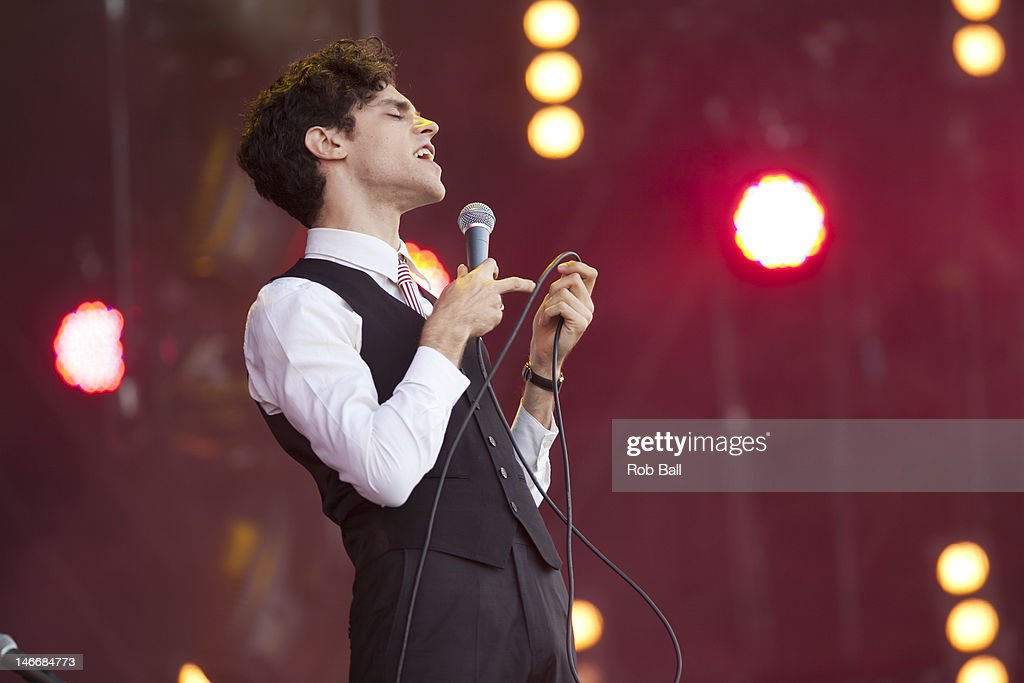 Charlie Fink from Noah and the Whale performs at the Isle Of Wight Festival at Seaclose Park on June 22, 2012 in Newport, Isle of Wight.