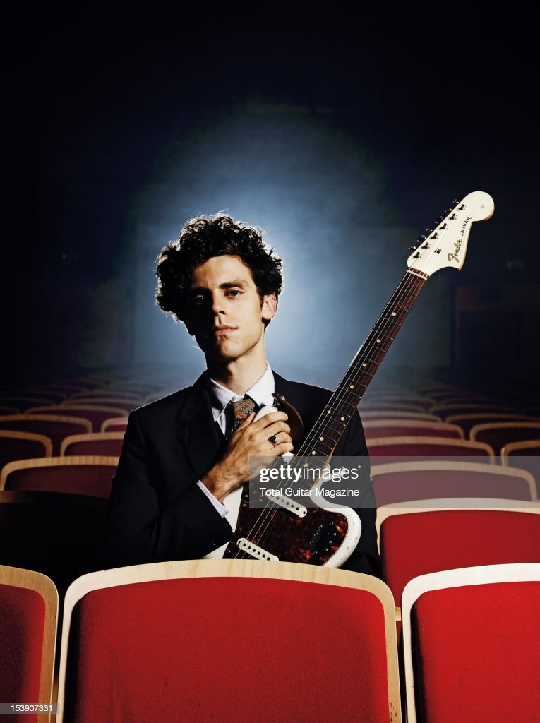 Charlie Fink of English indie folk band Noah and the Whale, during a portrait shoot for Total Guitar Magazine, November 1, 2011, Bristol Colston Hall.