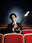 Charlie Fink of English indie folk band Noah and the Whale during a portrait shoot for Total Guitar Magazine November 1 Bristol Colston Hall