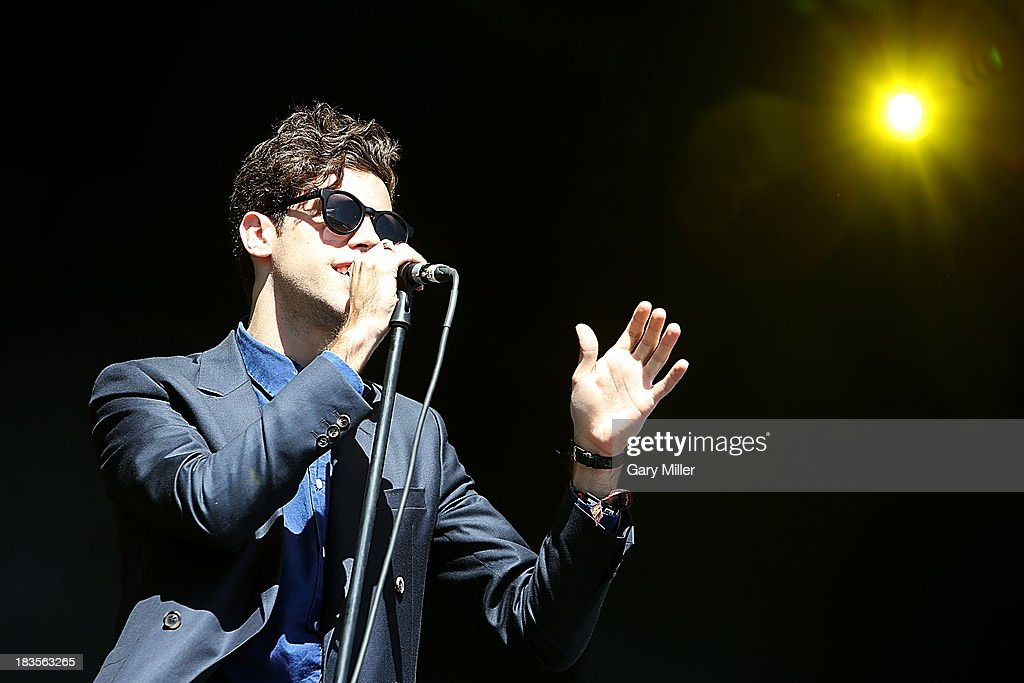 Charlie Fink of Noah and the Whale performs during day 3 of the Austin City Limits Music Festival at Zilker Park on October 6 2013 in Austin Texas