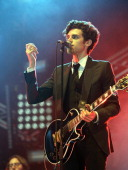 Charlie Fink of Noah And The Whale performs on day one of Lowlands Festival on August 19 2011 in Biddinghuizen Netherlands