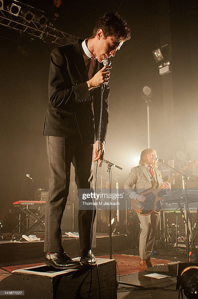 Charlie Fink of Noah and the Whale performs on stage at O2 Academy on March 21 2012 in Newcastle upon Tyne United Kingdom