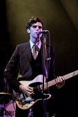 Charlie Fink of Noah And The Whale performs on stage at the Royal Albert Hall on April 16 2012 in London United Kingdom