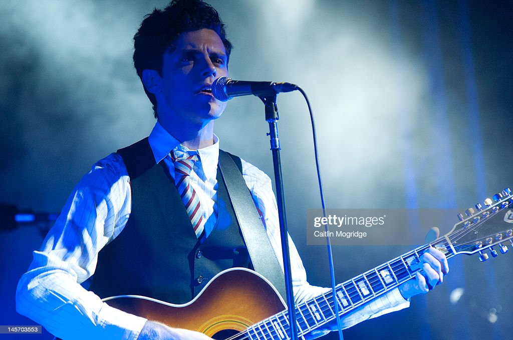 Charlie Fink of Noah and the Whale performs on stage during Apple Cart Festival at Victoria Park on June 3, 2012 in London, United Kingdom.
