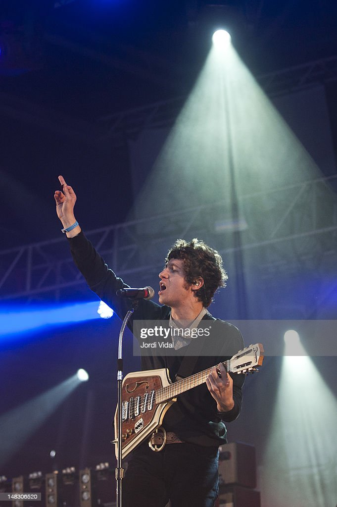 Charlie Fink of Noah and the Whale performs on stage during BBK Live at Kobetamendi on July 13, 2012 in Bilbao, Spain.