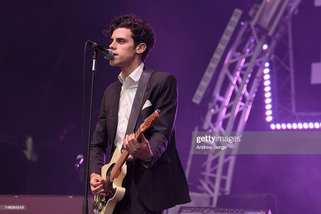 Charlie Fink of Noah and the Whale performs on stage during Park Life Festival at Platt Fields Park on June 9, 2012 in Manchester, United Kingdom.