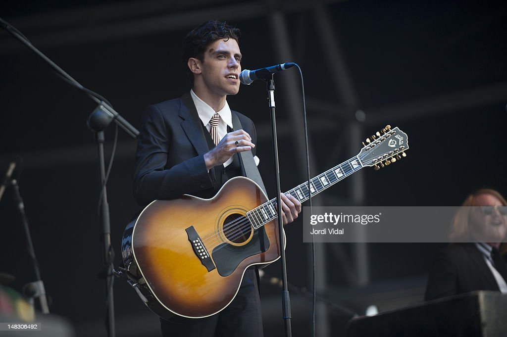 Charlie Fink of Noah and tthe Whale performs on stage during BBK Live at Kobetamendi on July 13, 2012 in Bilbao, Spain.