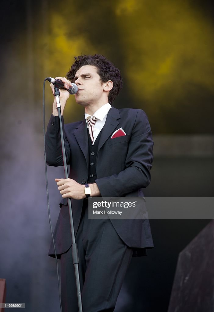 Charlie Fink performs on stage at the Isle of Wight Festival at Seaclose Park on June 22, 2012 in Newport, United Kingdom.