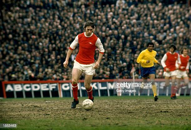 Charlie George of Arsenal in action during a Division One match played at Highbury in London England Mandatory Credit Allsport UK /Allsport
