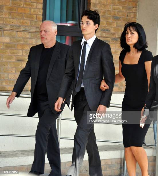 Charlie Gilmour arrives at Kingston Crown Court with his father David Gilmour and mother Polly to be sentenced after pleading guilty to violent...