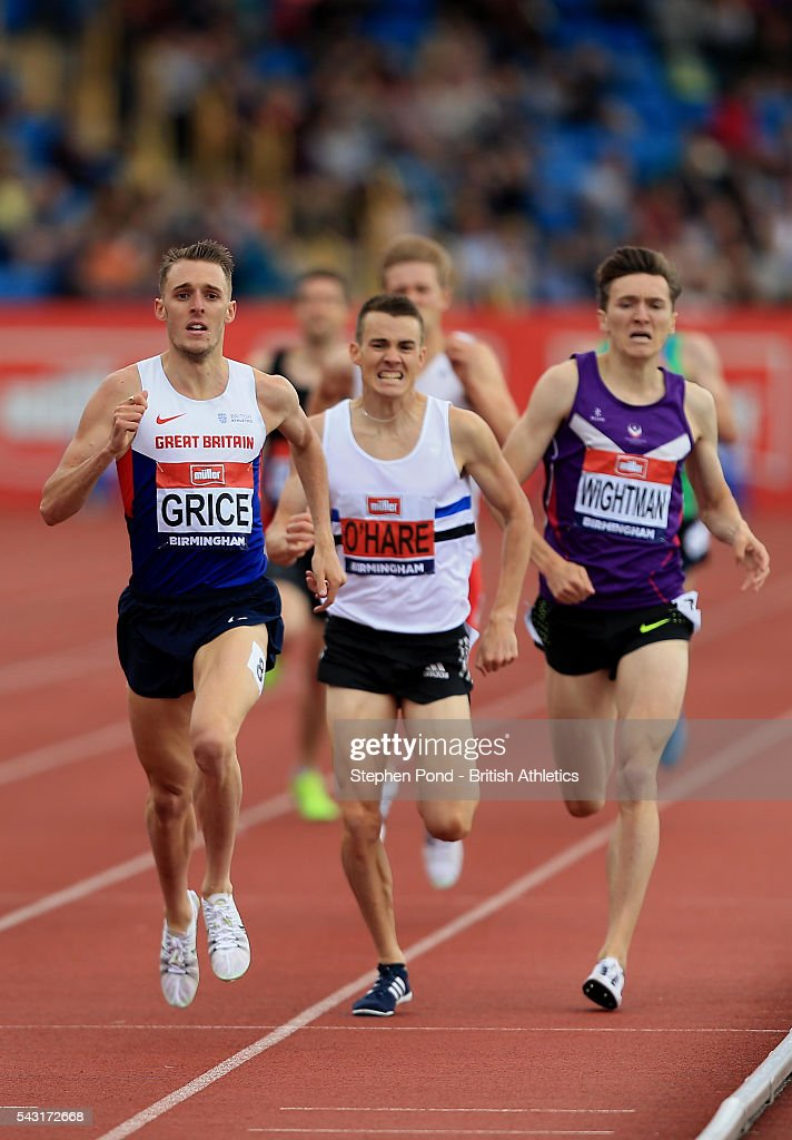 <a gi-track='captionPersonalityLinkClicked' href=/galleries/search?phrase=Charlie+Grice&family=editorial&specificpeople=7091019 ng-click='$event.stopPropagation()'>Charlie Grice</a> of Great Britain wins the mens 1500m during day three of the British Championships Birmingham at Alexander Stadium on June 26, 2016 in Birmingham, England.