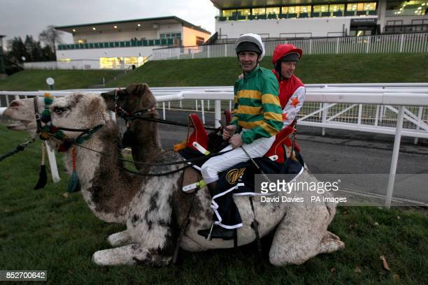 Charlie Hancock and Andy Smith after The William Hill Camel Derby at Chepstow Racecourse