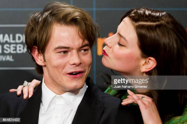 Charlie Heaton and Anya TaylorJoy attends 'Marrowbone' premiere during 65th San Sebastian Film Festival on September 27 2017 in San Sebastian Spain