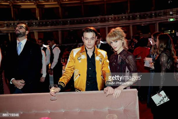 Charlie Heaton and Natalia Dyer attend during The Fashion Awards 2017 in partnership with Swarovski at Royal Albert Hall on December 4 2017 in London...