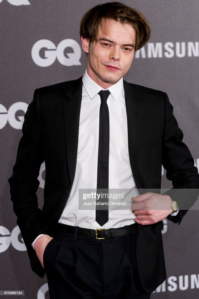 Charlie Heaton attends 'GQ Men Of The Year' awards 2017 at The Westin Palace Hotel on November 16, 2017 in Madrid, Spain.