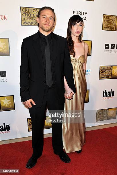 Charlie Hunnam and guest arrive at the Critics' Choice Television Awards at The Beverly Hilton Hotel on June 18 2012 in Beverly Hills California