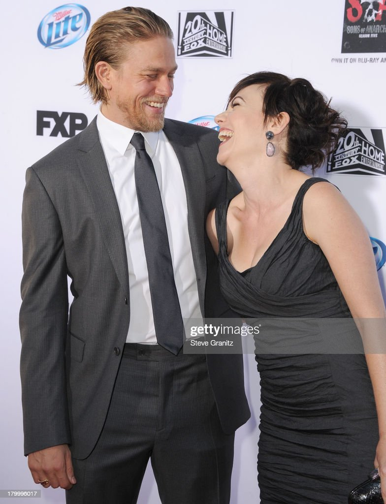 Charlie Hunnam and Maggie Siff arrives at the FX's 'Sons Of Anarchy' Season 6 Premiere Screening at Dolby Theatre on September 7, 2013 in Hollywood, California.