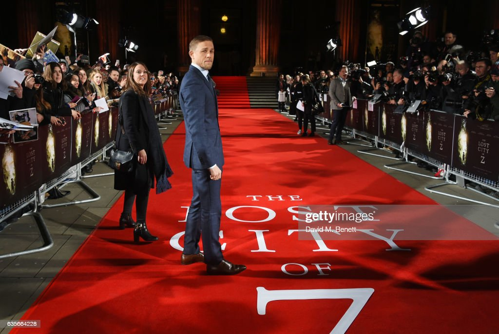 Charlie Hunnam arrives at The Lost City of Z UK Premiere at The British Museum on February 16, 2017 in London, United Kingdom.