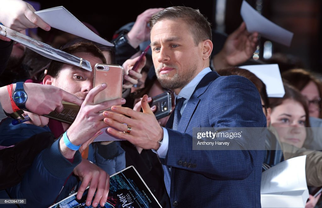 Charlie Hunnam arrives at The Lost City of Z UK premiere on February 16, 2017 in London, United Kingdom.