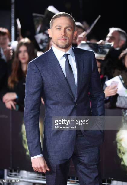 Charlie Hunnam arrives at The Lost City of Z UK premiere on February 16 2017 in London United Kingdom