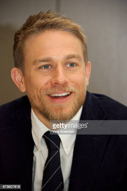 Charlie Hunnam at the 'King Arthur Legend of the Sword' Press Conference at the Four Seasons Downtown Hotel on April 30 2017 in New York City