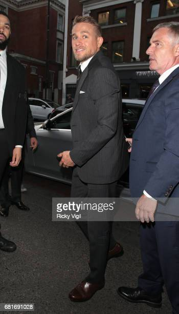 Charlie Hunnam attends King Arthur Legend of the Sword European film premiere after party held at The Bike Shed Motorcycle Club in Shoreditch on May...