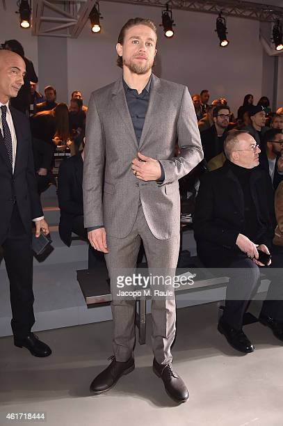 Charlie Hunnam attends the Calvin Klein Collection show during the Milan Menswear Fashion Week Fall Winter 2015/2016 on January 18 2015 in Milan Italy