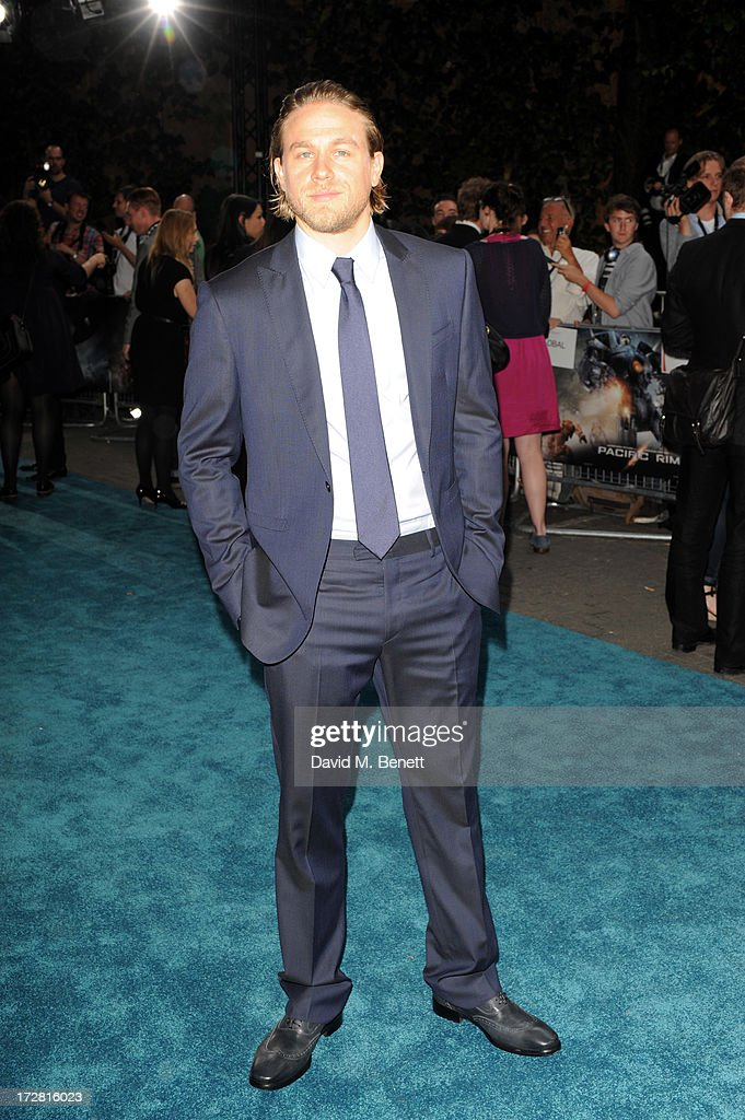 <a gi-track='captionPersonalityLinkClicked' href=/galleries/search?phrase=Charlie+Hunnam&family=editorial&specificpeople=223913 ng-click='$event.stopPropagation()'>Charlie Hunnam</a> attends the European Premiere of 'Pacific Rim' at BFI IMAX on July 4, 2013 in London, England.