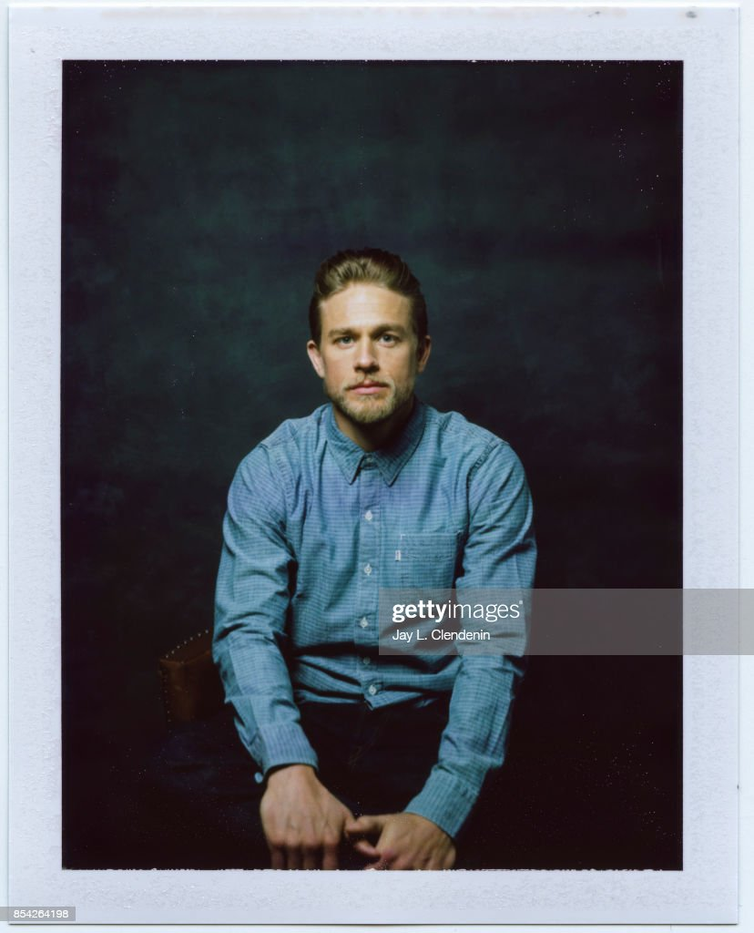 Charlie Hunnam, from the film 'Papillon,' is photographed on polaroid film at the L.A. Times HQ at the 42nd Toronto International Film Festival, in Toronto, Ontario, Canada, on September 08, 2017.