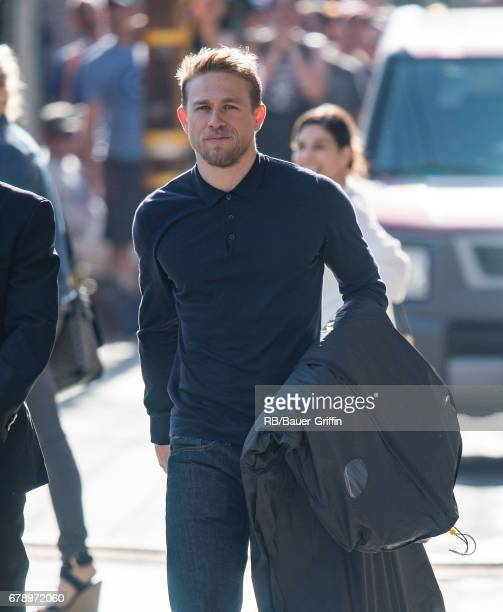 Charlie Hunnam is seen at 'Jimmy Kimmel Live' on May 04 2017 in Los Angeles California